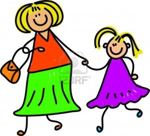 957139-happy-mother-and-daughter-holding-hands--toddler-art-series