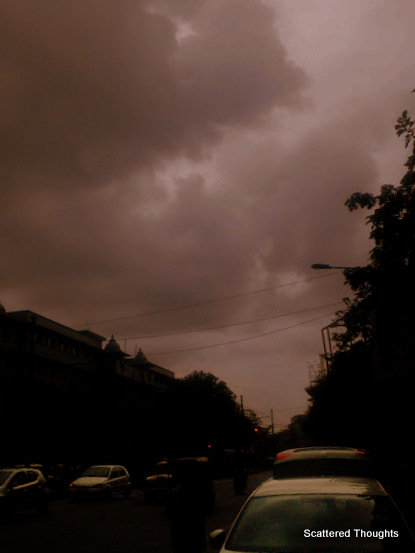 Kolkata Sky On a cloudy afternoon@ Gurusaday Road