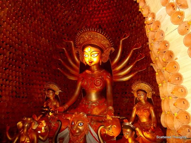 Ajeya Sanghati Durga Pujo, the 'pratima' (idol)
