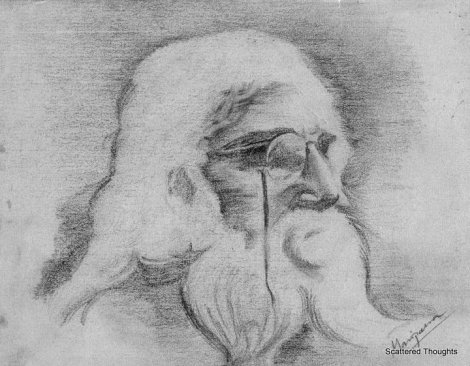 Pencil Sketch of Rabindranath Tagore, Made by Me