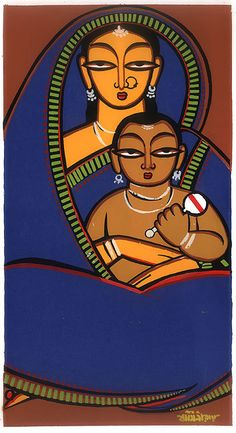 Jamini Roy Painting- Mother and Child