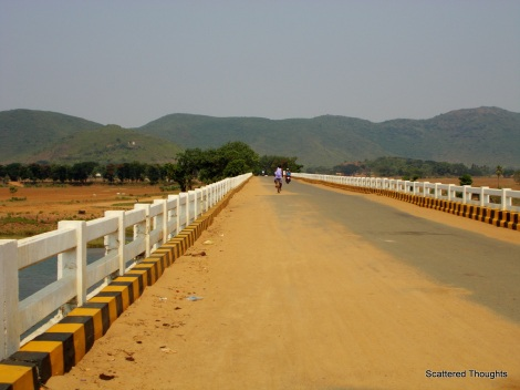 Way to Lalitgiri, the bridge on the Mahanadi river