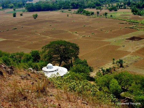 The scattered  beauty atop the Lalitgiri hill. It looks like a live Farmville.