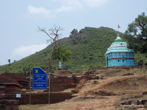 The Chaitya Stupa, the temple at the right must be a recent inclusion.