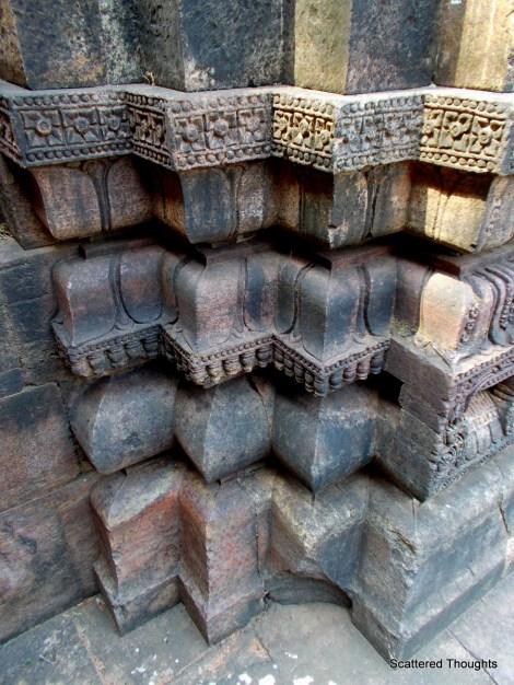 Intricate stone columns