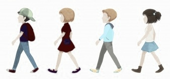 1-faceless-children-walking-on-a-white-background_1308-2603